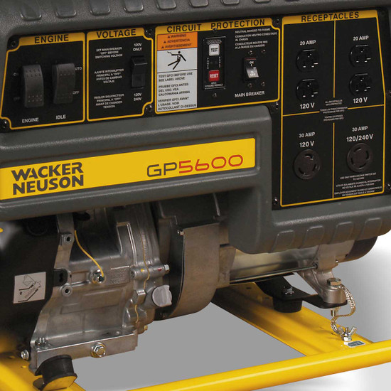 Wacker GP 5600A Generator Control Panel