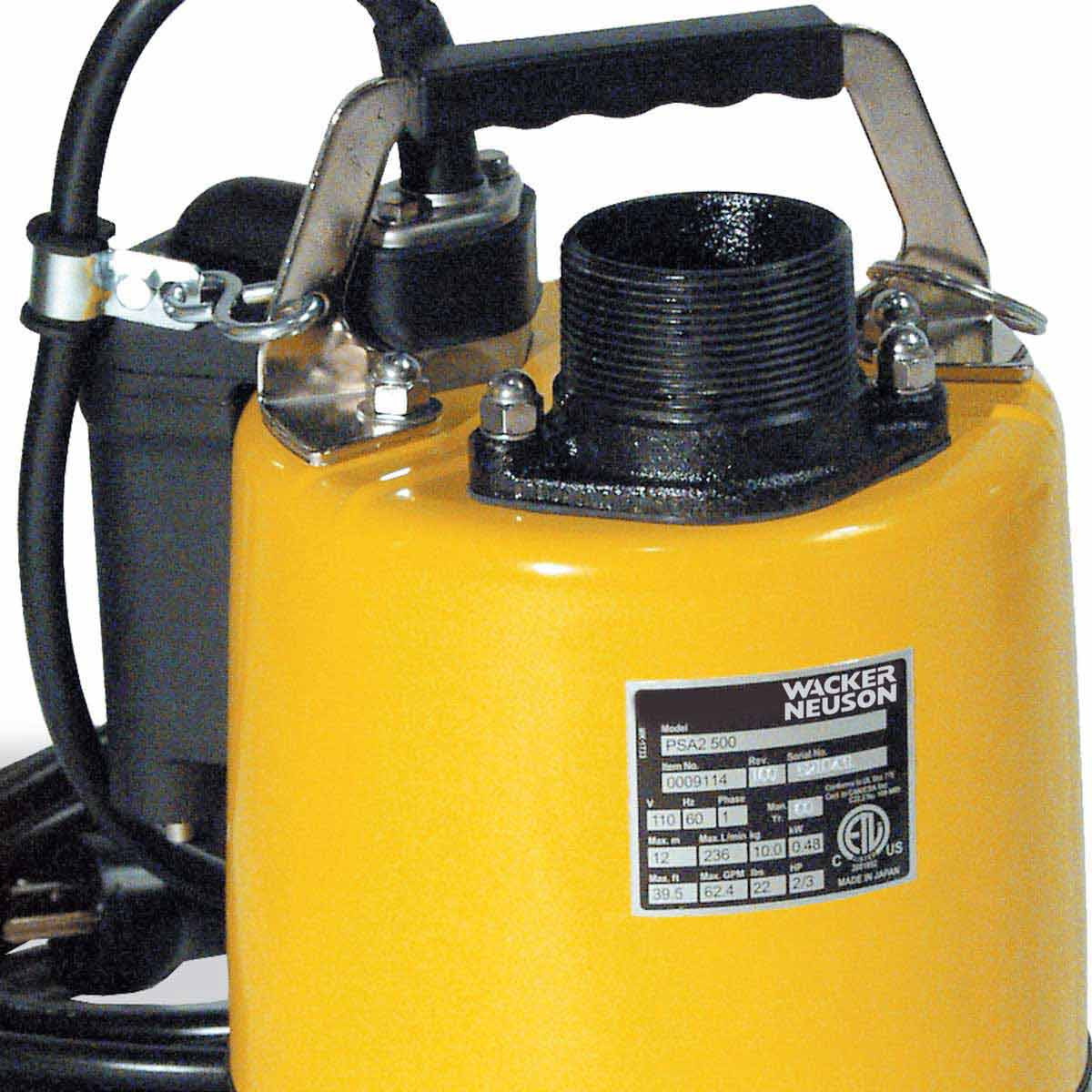 2 inch PSA2500 Submersible Pump 110V Wacker Neuson