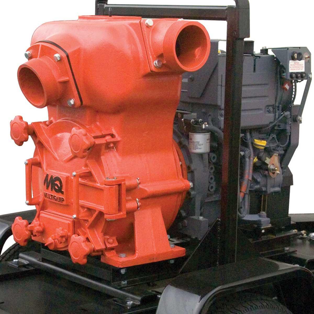 6 inch Multiquip MQ-62TDD Trash Pump with Deutz Diesel Engine