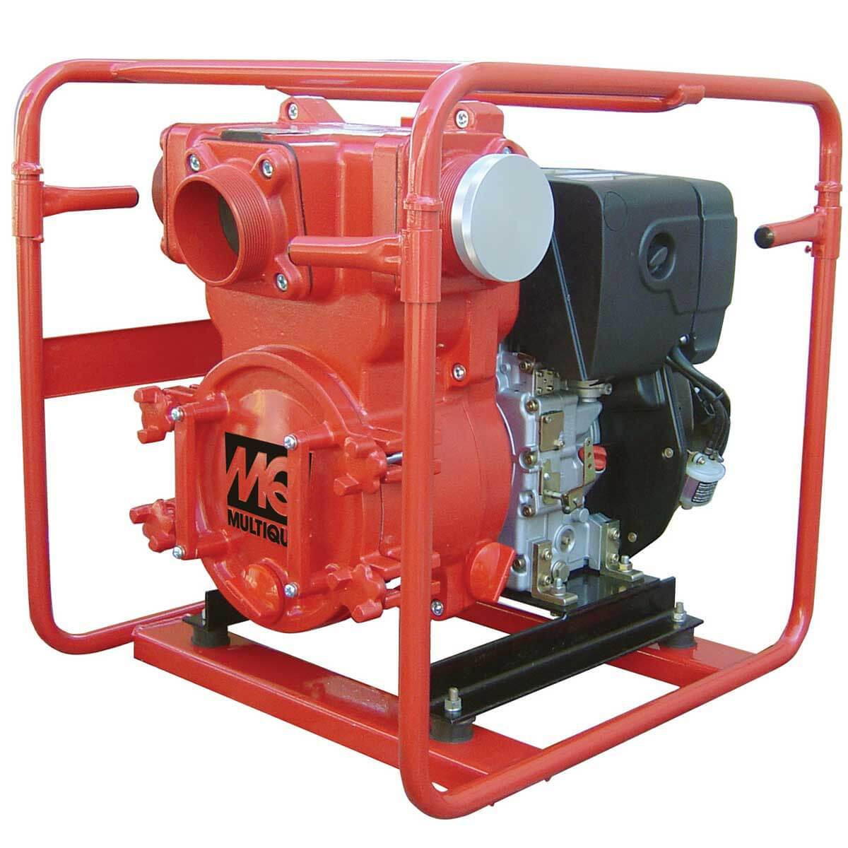 4 inch Multiquip Diesel Powered Trash Pump QP4TZ