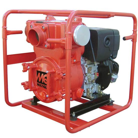 4 inch Multiquip Diesel Powered Trash Pump QP4TZ