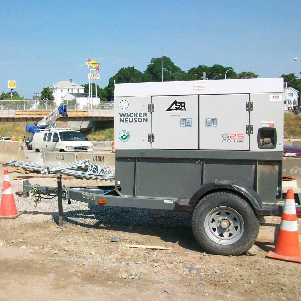 Wacker Neuson mobile generator 20,000 Watt