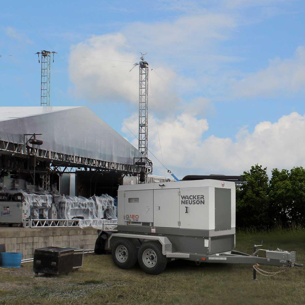 158hp mobile generator wacker neuson