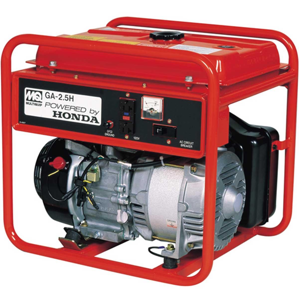 multiquip 5.5hp portable generator 2500 watt
