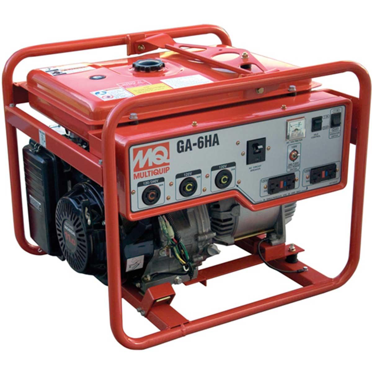 Multiquip GA6HRS Honda GX340 Generator 6,000W. Contractors