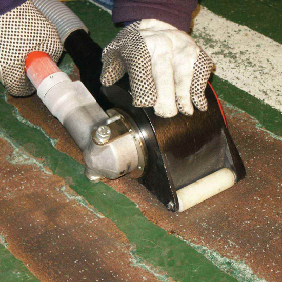 Novatek PPT 4 inch Scarifier Removing Paint