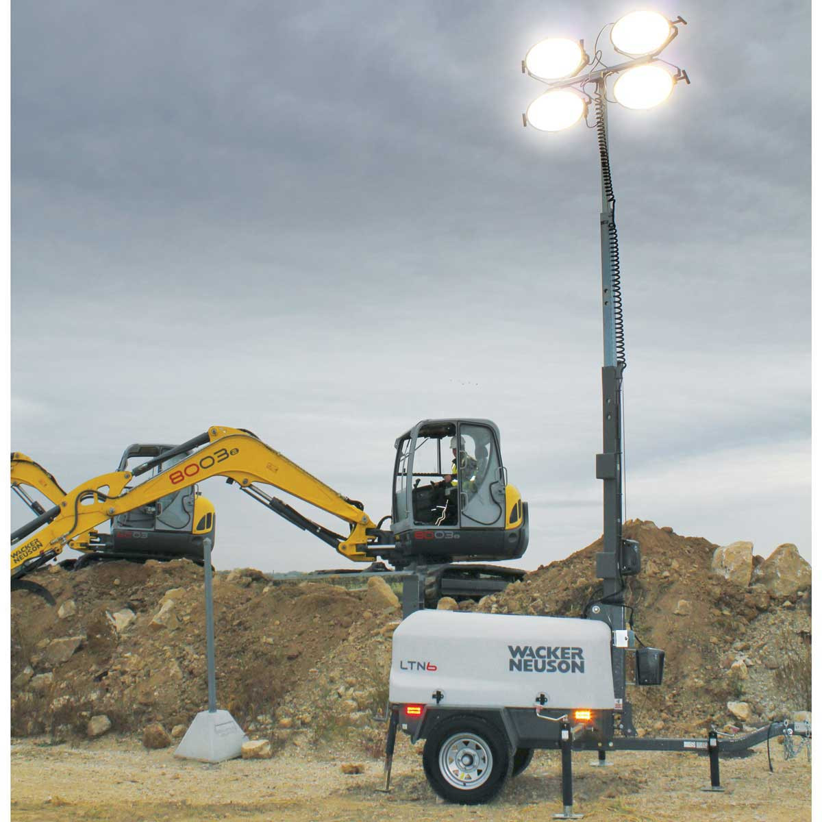 Wacker Neuson jobsite light tower