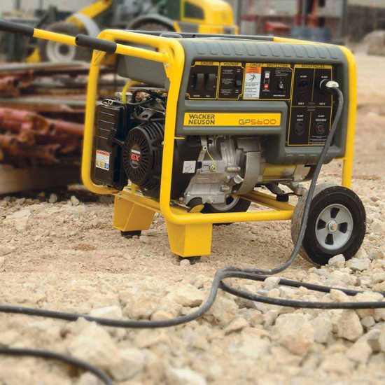 Wacker GP5600 Generator with Job Site Wheel Kit