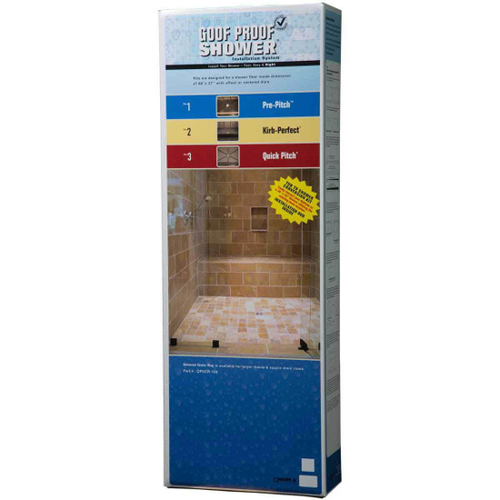 Goof Proof Standard Shower Kit Box