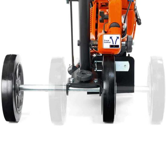 Adjustable Wheels on Cutting Cart