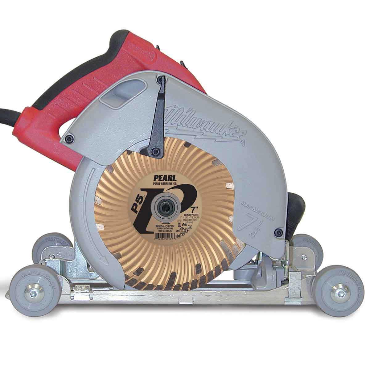 Pearl abrasive roller circular saw
