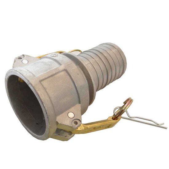 5000078032 Wacker Neuson 6 in. diameter female quick disconnect for the hose side of the pump with attached hose barb