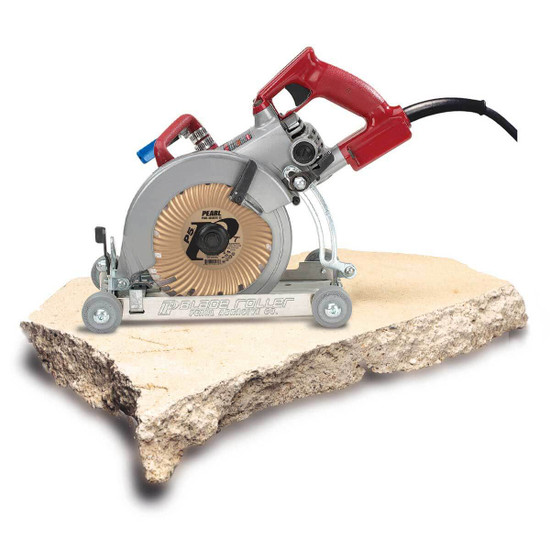Stone Cutting with Blade Roller