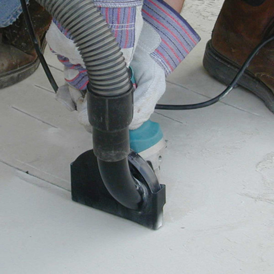 Shop Vacuum with Angle Grinder Attachment